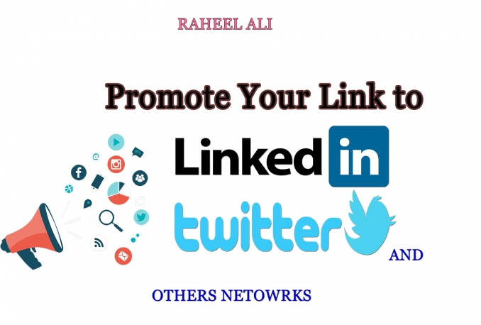 promote anything to 15,000,000 Linkedin Twitter tumblr and other networks for