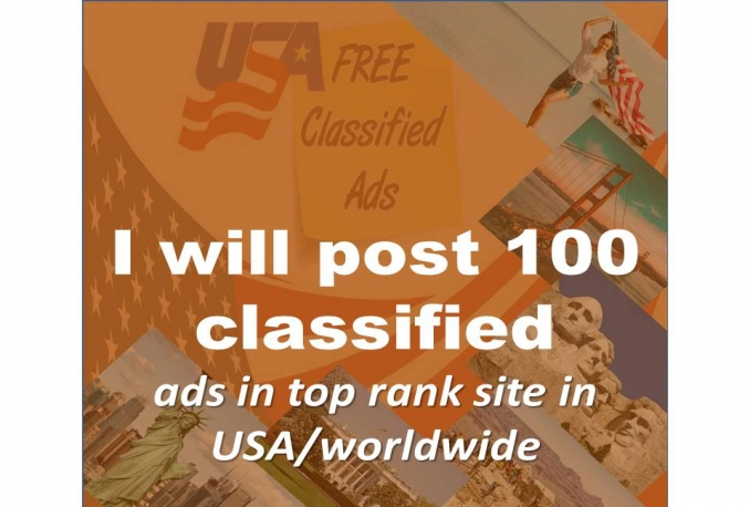 publish your ads in top USA and wordwid classified ad posting site